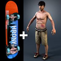 Skater and Skateboard