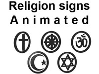 Religion signs animated