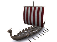 3d model viking ship