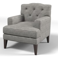 marie`s corner maries oklaoma upholstered  modern classic contemporary tufted tuft  chair armchair