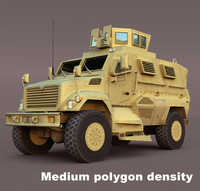 maxxpro mrap vehicle 3d model
