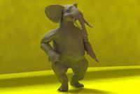 3d toon elephant model