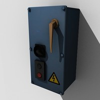 3d model low-poly power switch