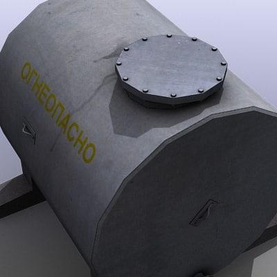 Fuel Tank 3d Model Low Poly Fuel Tank 3d Model