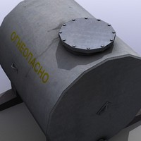 low-poly fuel tank 3d model