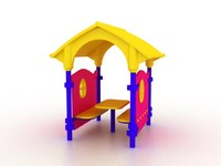 plastic house 3d model