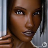 hair v3 2 face 3d model
