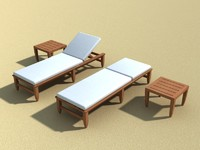 AMALFI TEAK OUTDOOR CHAISE