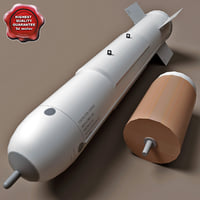 aircraft bomb cbu-72 blu-73 3d model