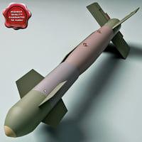 3d model aircraft bomb gbu-15 mk 84