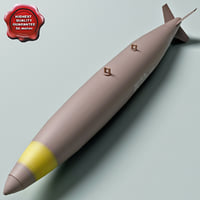 aircraft bomb mk-82 conical 3d model