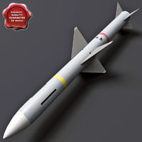 aircraft missile aim-7 sparrow 3d model