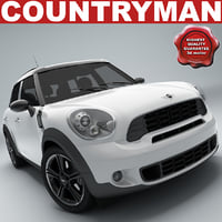 mini cooper countryman 3d model