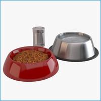 3d model dog food