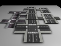 road segment 3d model