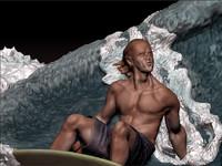3d diorama surf ztl dioramasurf1 model