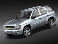 chevrolet trailblazer lt suv 3d model
