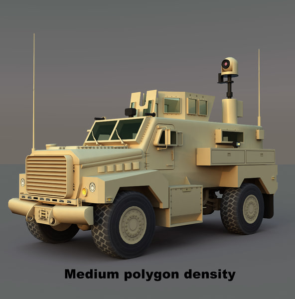 cougar h mrap 3d model - Cougar H MRAP... by RippleDesign