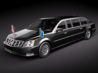 Cadillac DTS Armored Presidental Limousine