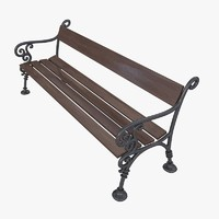 furn bench exterior art metal LA1