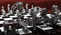 Escher Chess Set