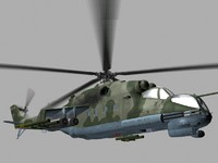 Mil Mi24 P Hind Soviet Helicopter Gunship Game Ready