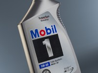 Bottle of Mobil One Motor Oil