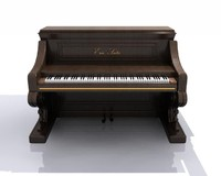 3d hight piano model