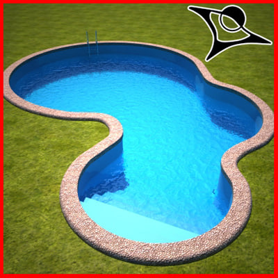 Swimming pool 3d model for Swimming pool 3d model free download