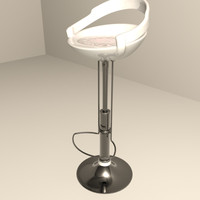3ds modern bar stool seat