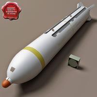 aircraft bomb cbu-78 gator 3d c4d
