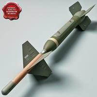 aircraft bomb gbu-24 paveway 3d 3ds