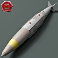 aircraft bomb gbu-32 jdam 3d model