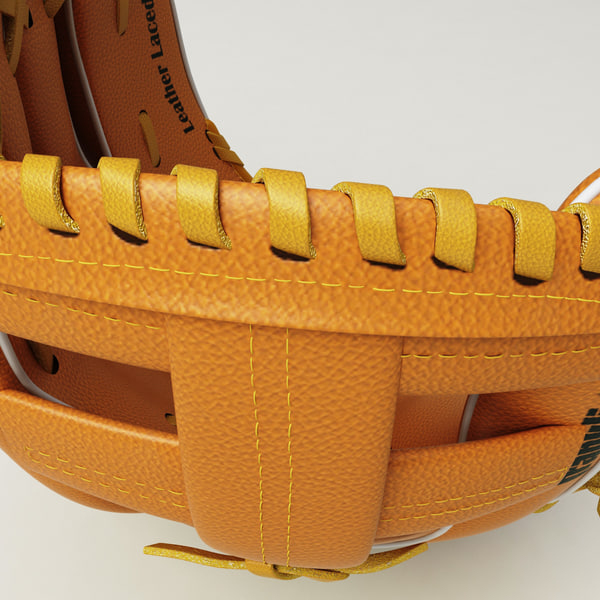 baseball glove 3d model - Baseball Glove and BaseBall... by 3d_molier