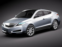 3ds acura zdx 2010 concept car
