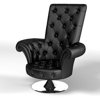 3d tufted buttoned chair