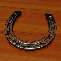 old worn horseshoe 3d model