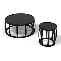 Maxalto B&B modern contemporary coffee side table sm80t sm40p round