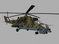 Mil Mi35 N Hind Russian Helicopter Gunship Game Ready