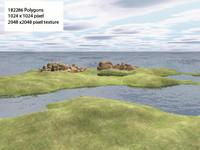 redrock island 3d model