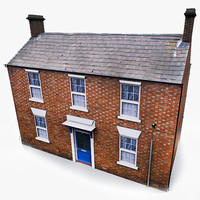 Photorealistic European English Old House 002