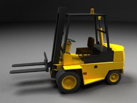 Forklift - high lift vehicle - Color Vray materials
