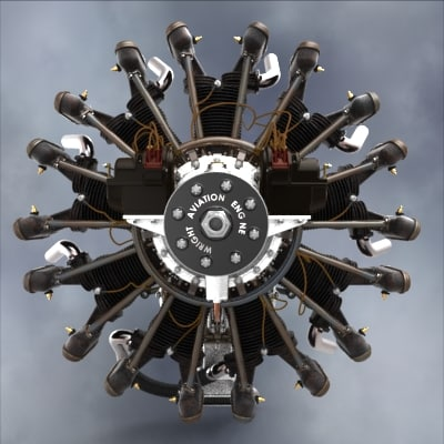 Wright Whirlwind J5c Radial Airplane Engine