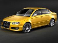 3d model audi rs4 sedan 2007