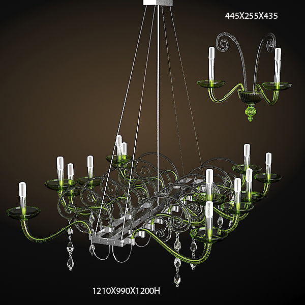 BAROVIER TOSO CONTEMPORARY CHANDELIER CELIING LAMP CRYSTAL GLASS 7029 SCONCE