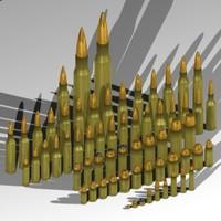 65 cartridges rifles pistols 3d max