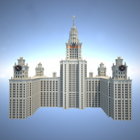 moscow building 3d model