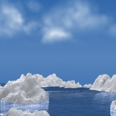 iceberg ice 3d model - 3D Iceberg... by axel_m