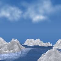 iceberg ice 3d model