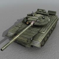 t80 tank russian 3d model